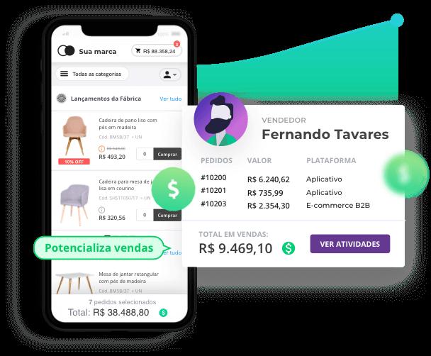 App para potencializar e gerenciar vendas do distribuidor