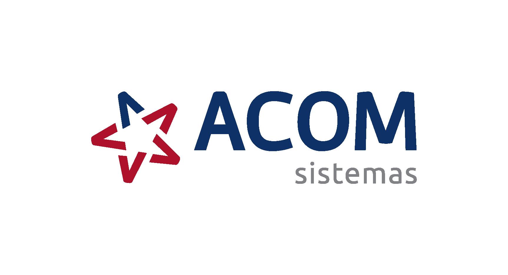 Logo da empresa ACOM Sistemas.