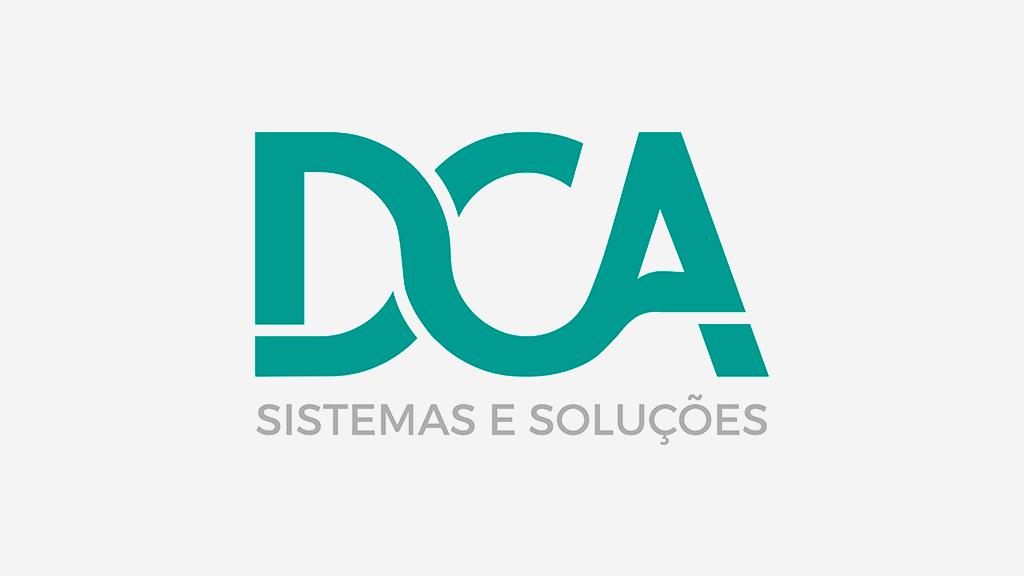 Logo da empresa DCA Sistemas e Soluções.