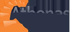 Logo da empresa Athenas.